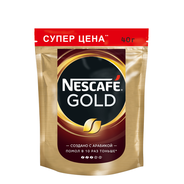 Кофе растворимый Nescafe Gold, пакет, 40 г